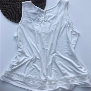 Lane Bryant Tops - NWT Lane Bryant Swing Tank Ivory Crochet 22/24